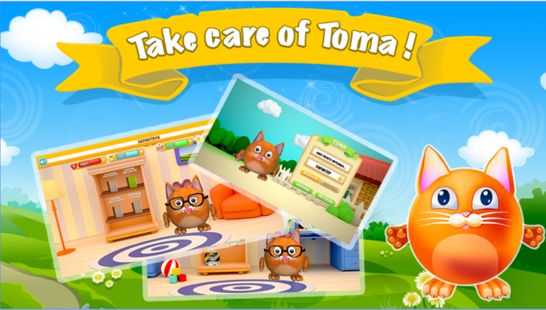 Toma talking Cat - Tamagotchi app