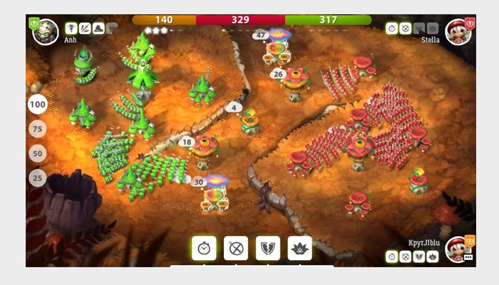 mushroom wars 2 screen