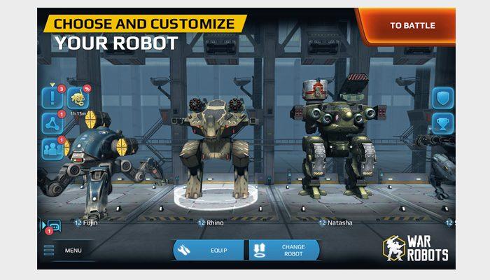 war robot screen