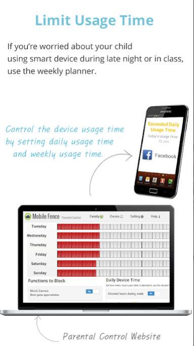 Mobile Fence Parental Control app