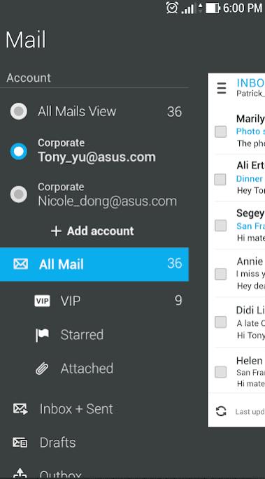 ASUS Email app