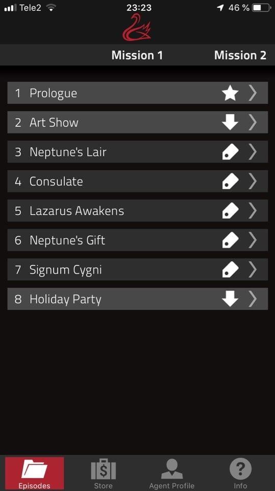 Codename Cygnus app 1