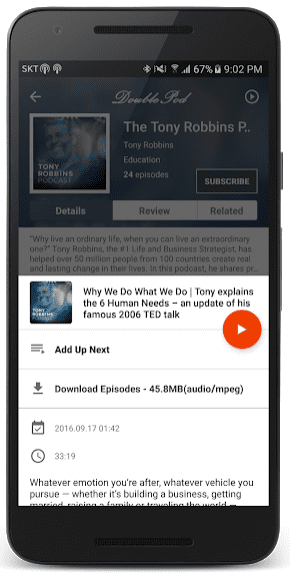 DoublePod Podcasts app review