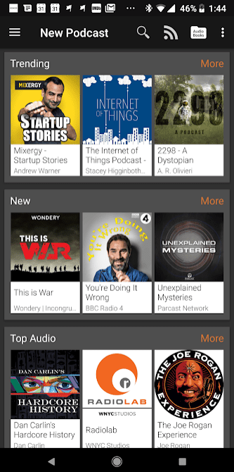 Podcast Addict app