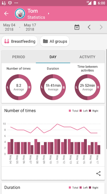 Baby Daybook app