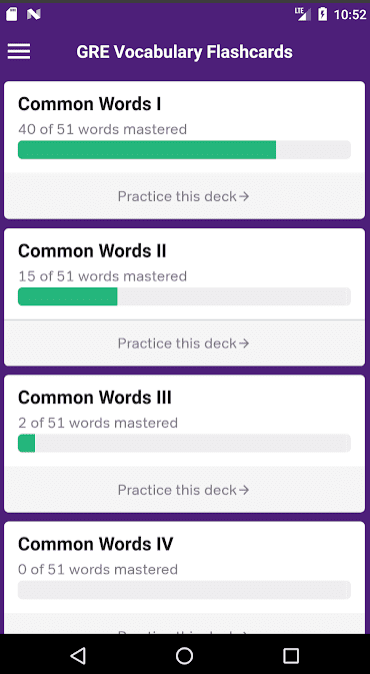 GRE Flashcards app review