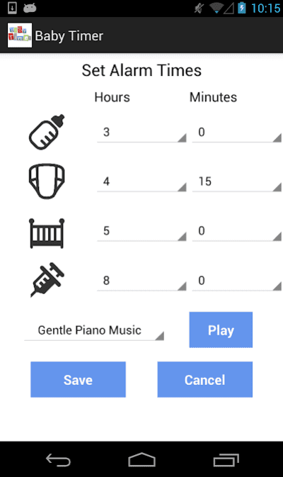 Newborn Baby Timer app