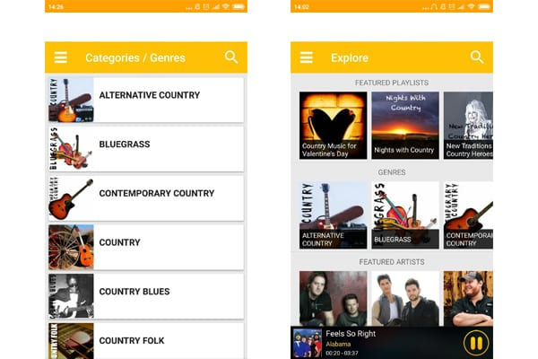 country music app