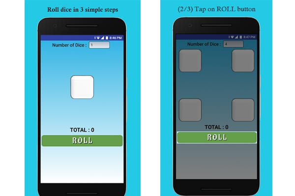 roll dice app