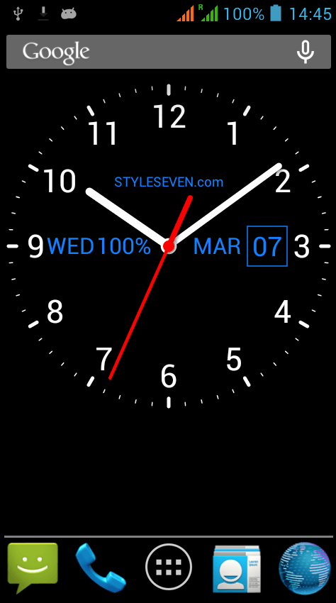 Analog Clock Live Wallpaper-7 app review