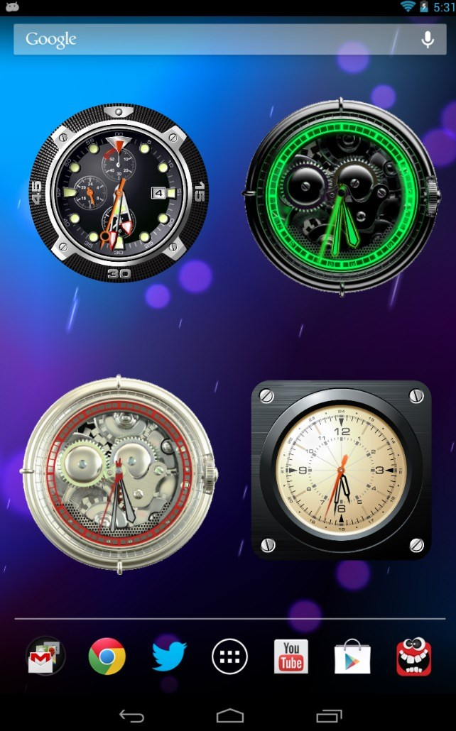 Analog Clock Wallpaper:Widget app