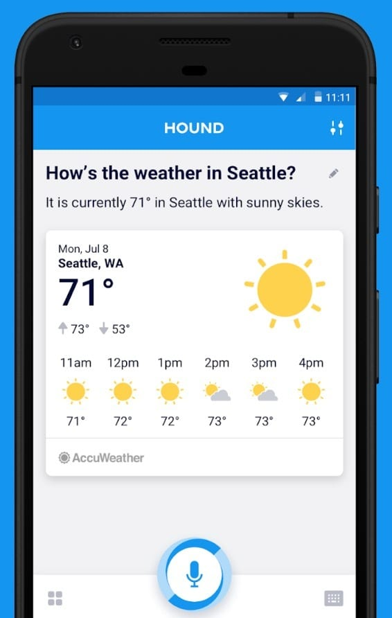 HOUND Voice Search & Mobile Assistant app