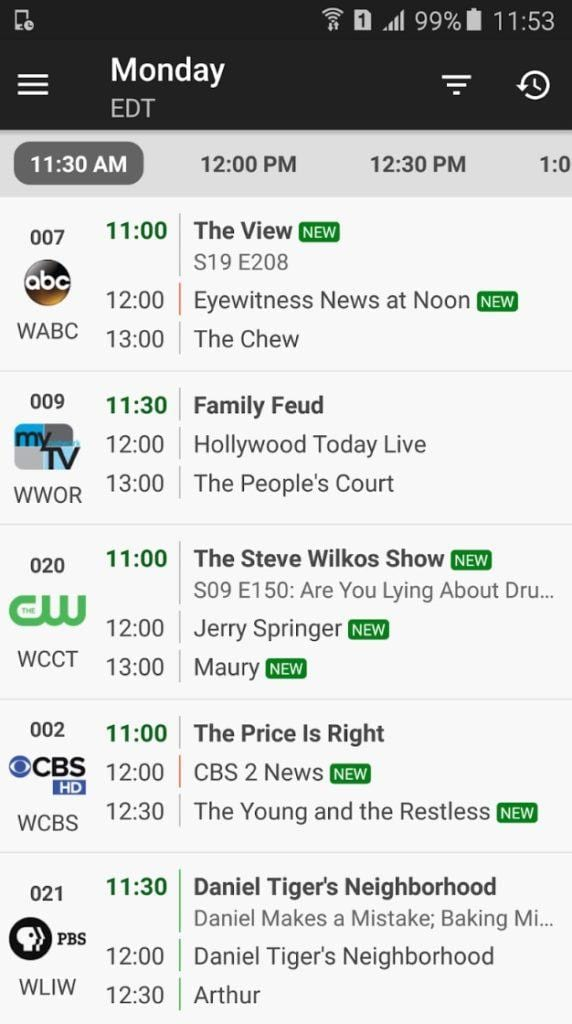 TV Listings & Guide Plus app