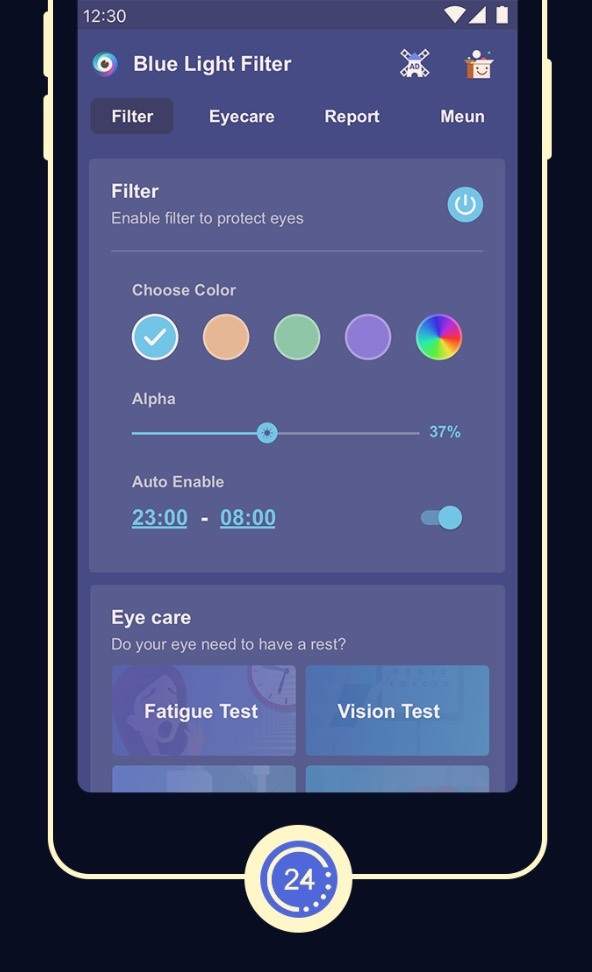 Blue Light Filter – Screen Dimmer for Eye Care