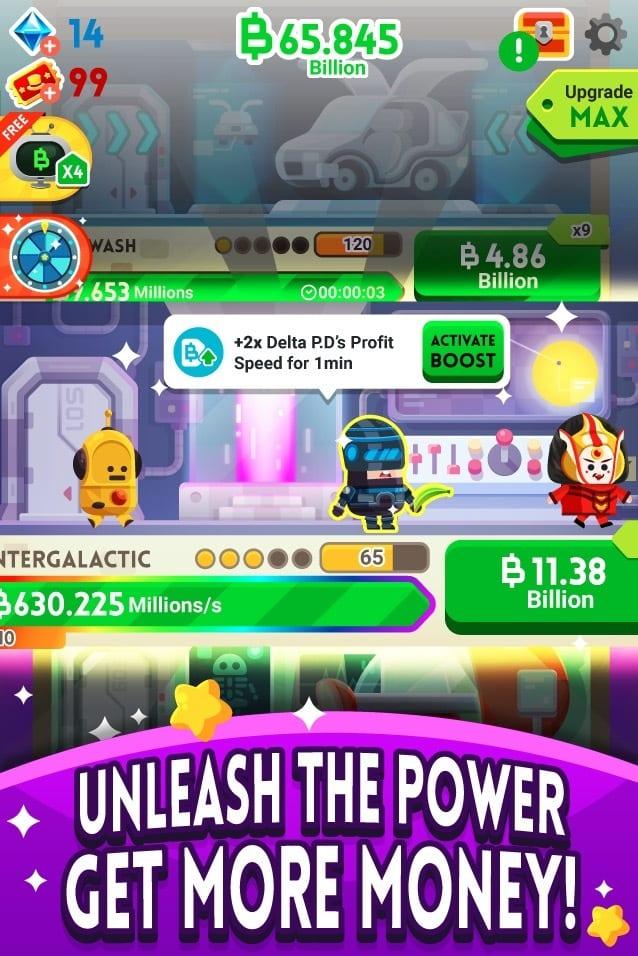 Money Clicker Game & Business Adventure app