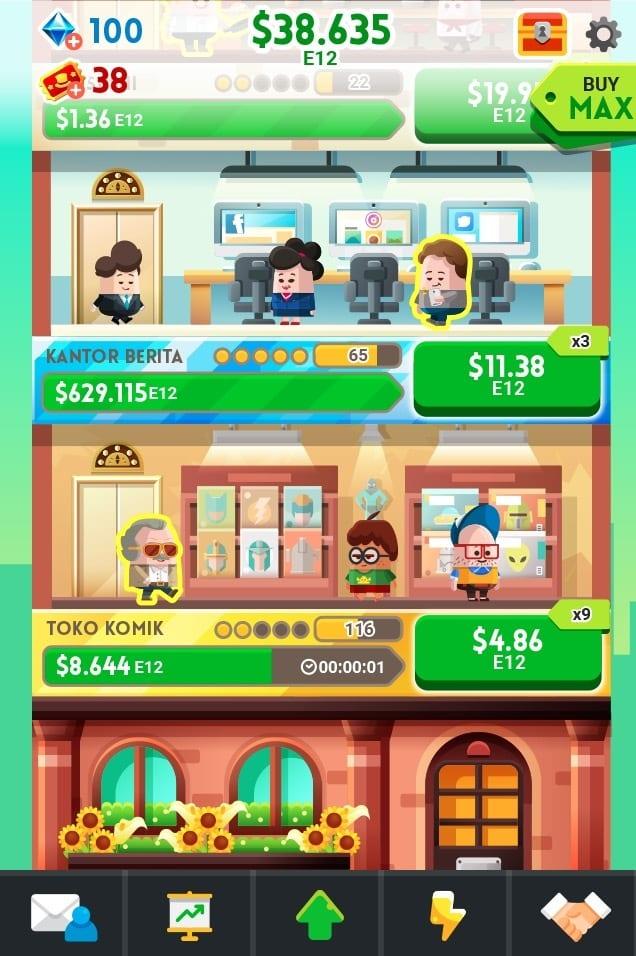 Money Clicker Game & Business Adventure logo