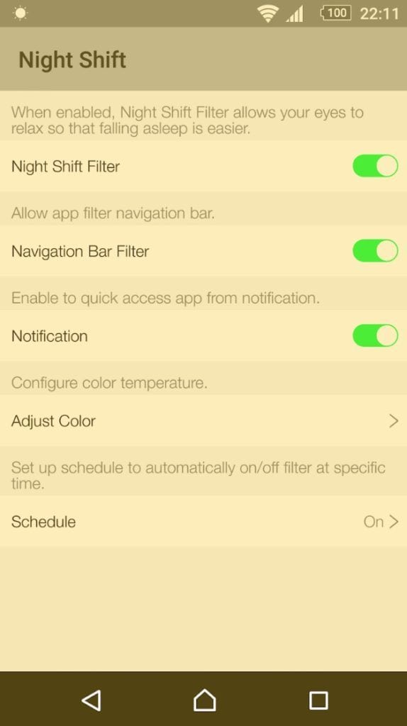 Night Shift OS 10 app