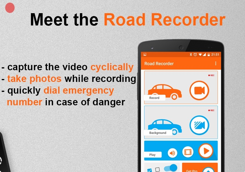 Road Recorder app