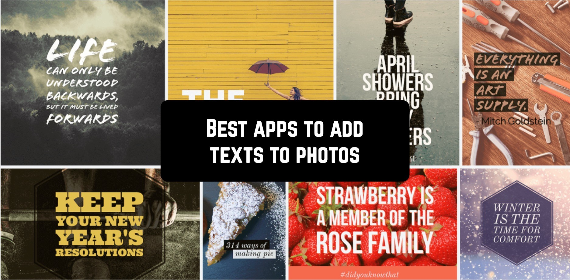 Best apps to add texts to photos