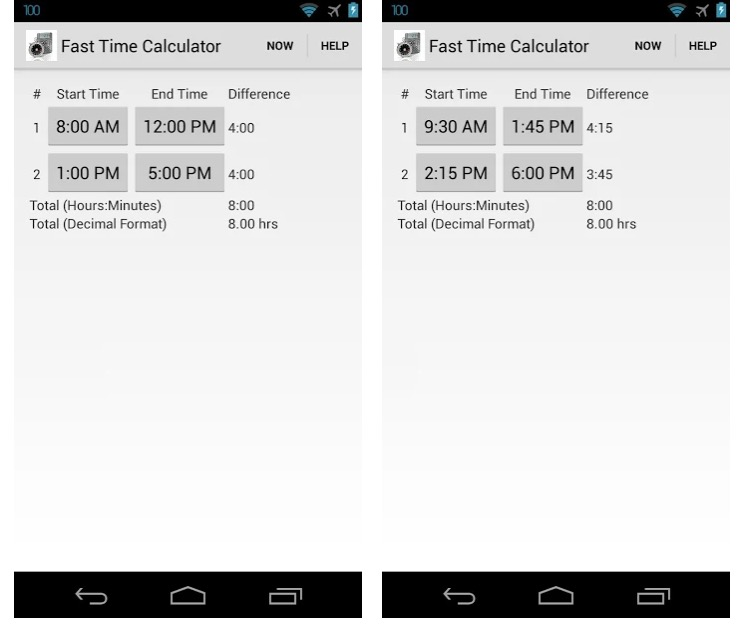 Fast Time Calculator