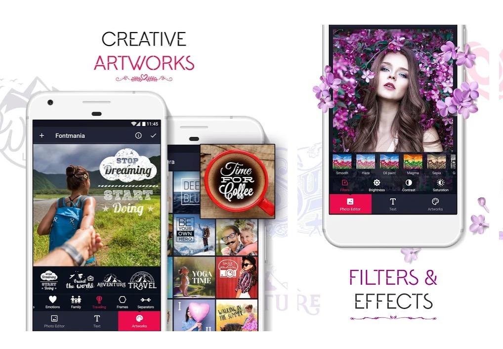Fontmania - Aplikasi Edit Tulisan Foto Terbaik