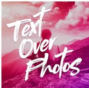Text Over Photo logo