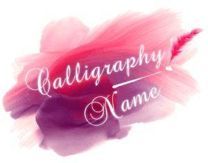Calligraphy Name logo