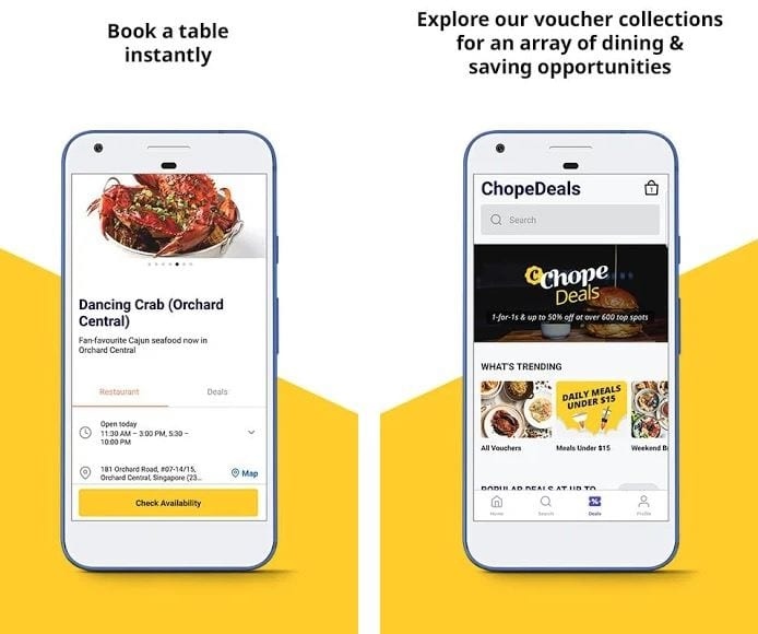 Chope Restaurant Reservations