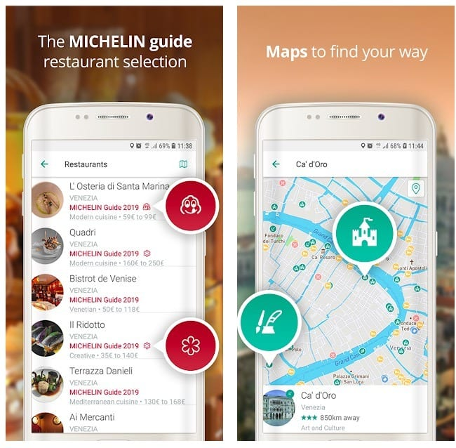Michelin Travel guide, tours, restaurants, hotels