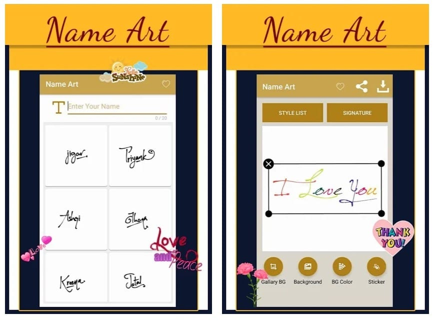 Name Art Maker - Calligraphy Name Maker