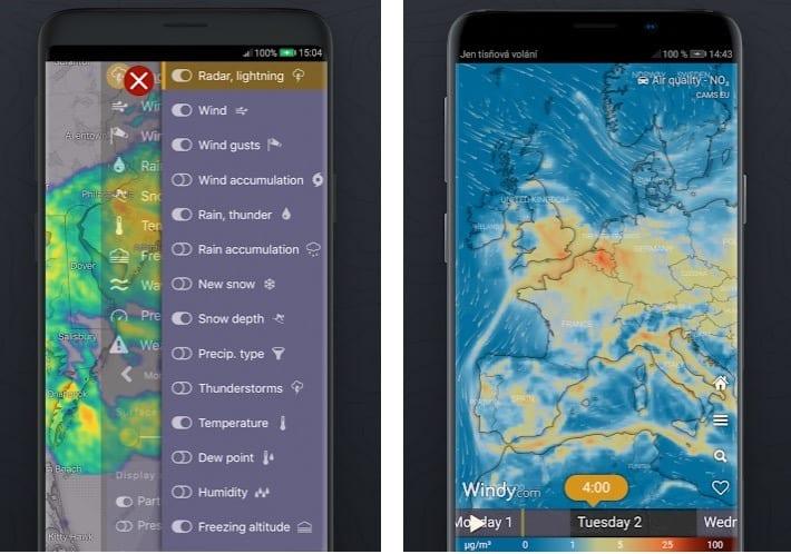 Windy.com app