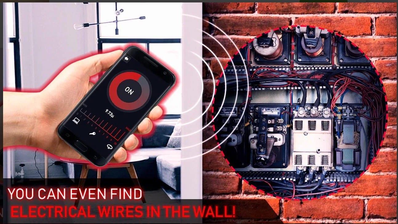 Metal detector scanner for body app