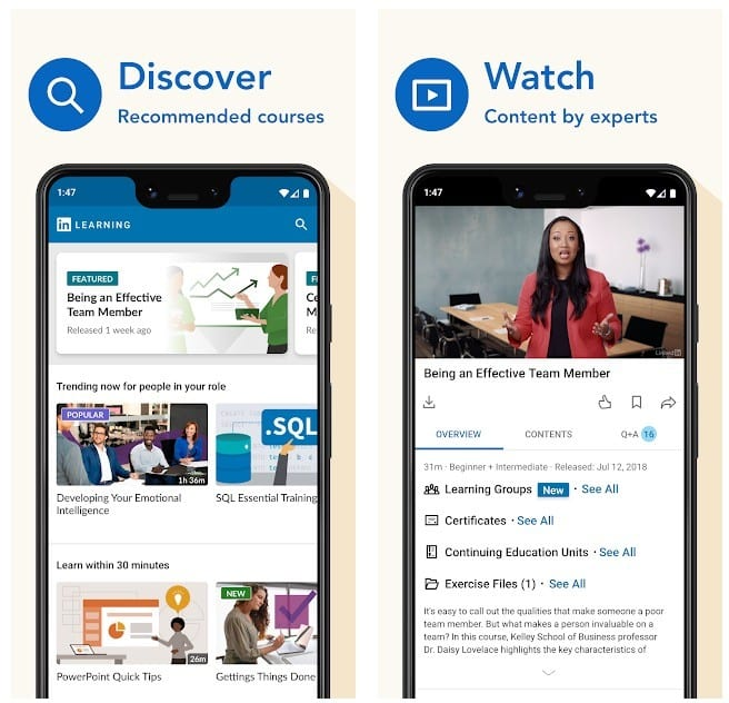LinkedIn Learning app