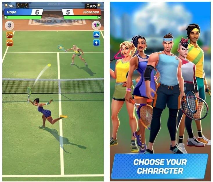 Tennis Clash app