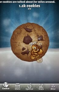 Cookie Clicker screen 1