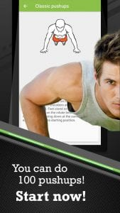 100 Push-ups workout screen 1