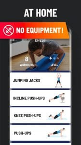 Home Workout screen 2
