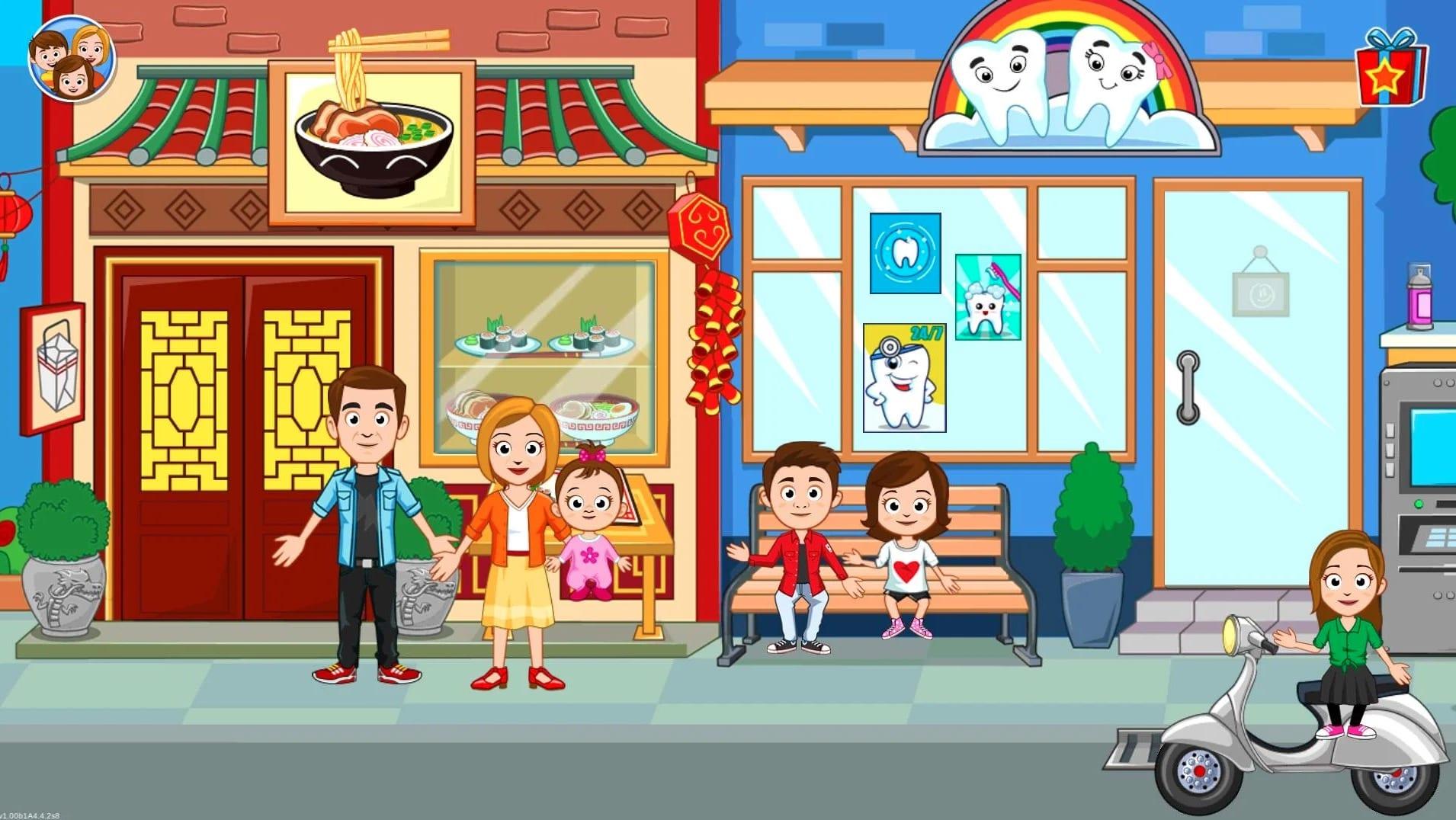 My Town Street, After School Neighbourhood Fun game