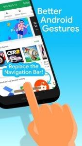 Navigation Gestures screen 1
