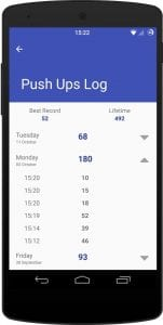 Push Ups Counter screen 2