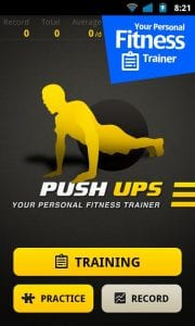 Push Ups Workout screen 1