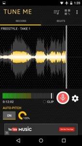 Tune Me screen 1