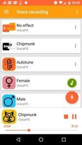 VoiceFX screen 1