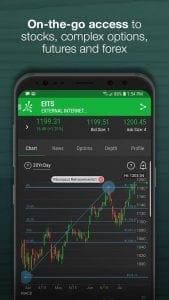 Thinkorswim Mobile screen 1