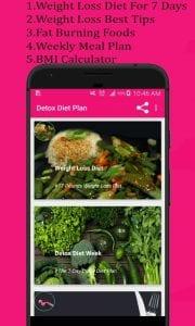 Detox diet plan screen 1
