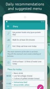 Dukan Diet screen 2