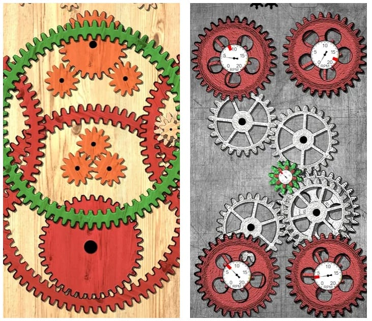 Gears logic puzzles game