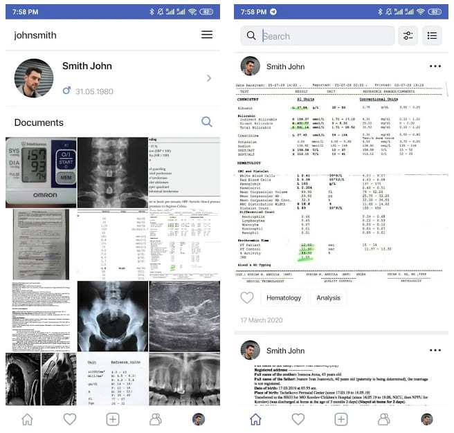 Medical History – Documents