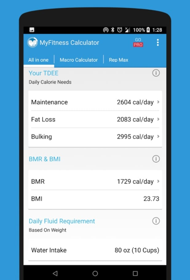 IIFYM MyFitness Diet Calorie Calculator app